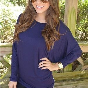 Tops - Navy Blue Tunic